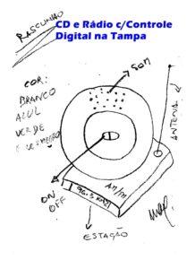 CD e Rádio com Controle Digital na Tampa