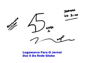 LOGOMARCA PARA O JORNAL DAS 5 DA REDE GLOBO