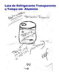 Lata de Refrigerante Trasnparente com Tampa em Alumínio