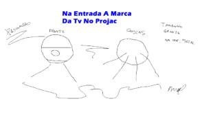 NA ENTRADA A MARCA DA TV NO PROJAC